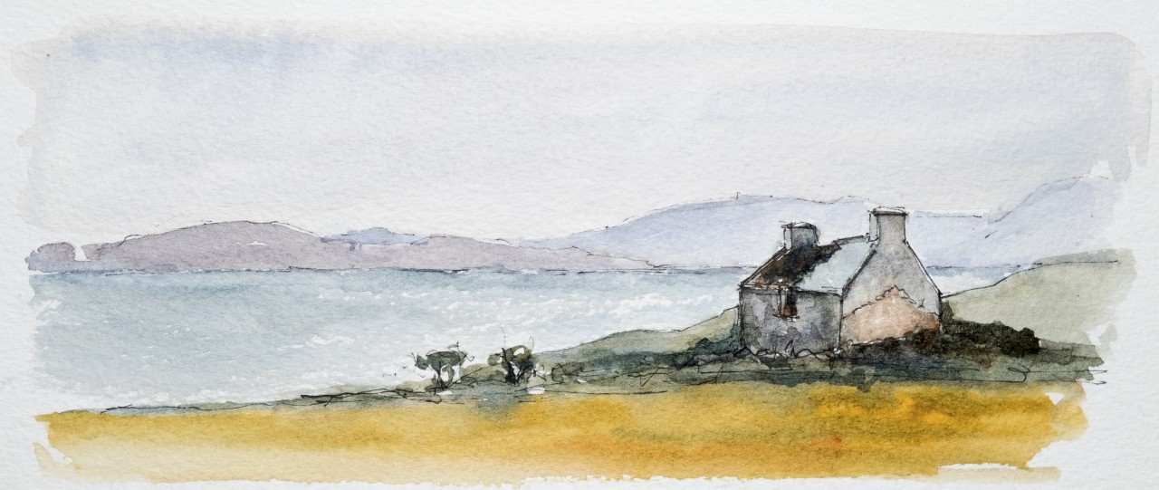 Ruined house overlooking Bantry Bay