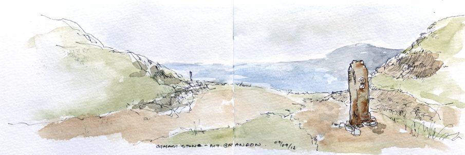 Ogham stone, Mt Brandon