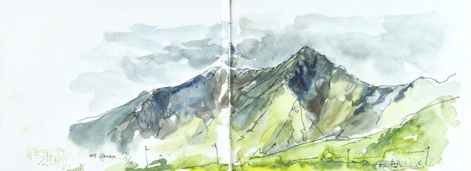 Mount Brandon, Watercolour sketch