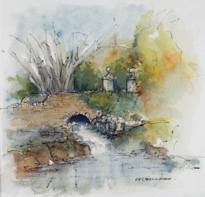 Derreennatra, Watercolour sketch