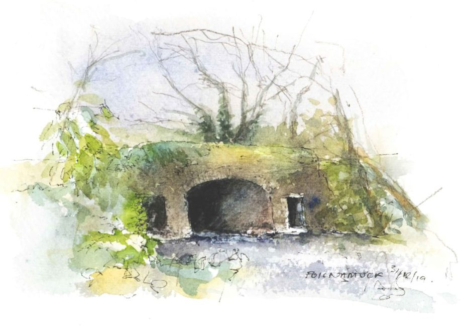 Foilnamuck bridge - watercolour sketch