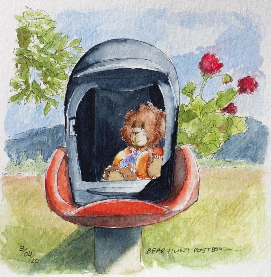 Bear hunt postbox